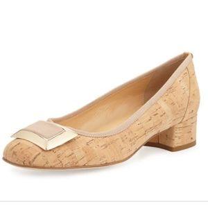 Sesto Meucci Cork Heels W/Buckle
